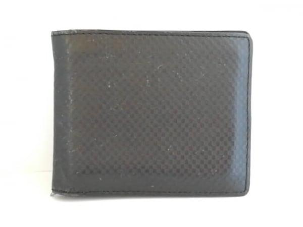 COMME CA MEN(コムサメン) 2つ折り財布 黒 レザー