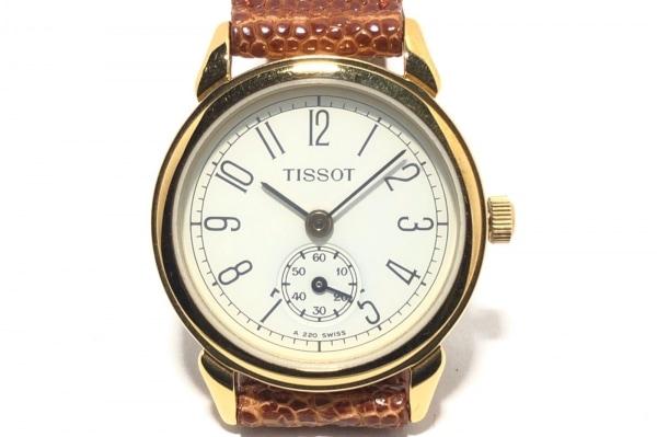 TISSOT(ティソ) 腕時計 A220 レディース 型押し革ベルト アイボリー