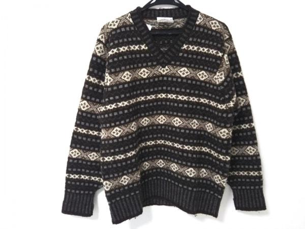 ジャミーソンズ 長袖セーター メンズ美品  ダークブラウン×ブラウン×マルチ