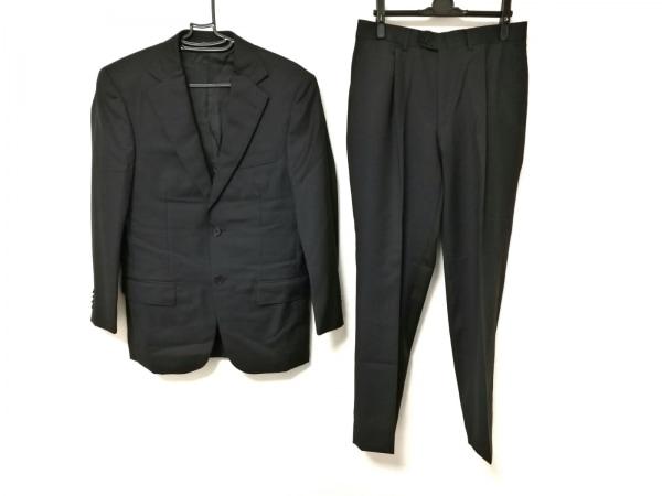 ErmenegildoZegna(ゼニア) シングルスーツ メンズ 黒 シャドーストライプ