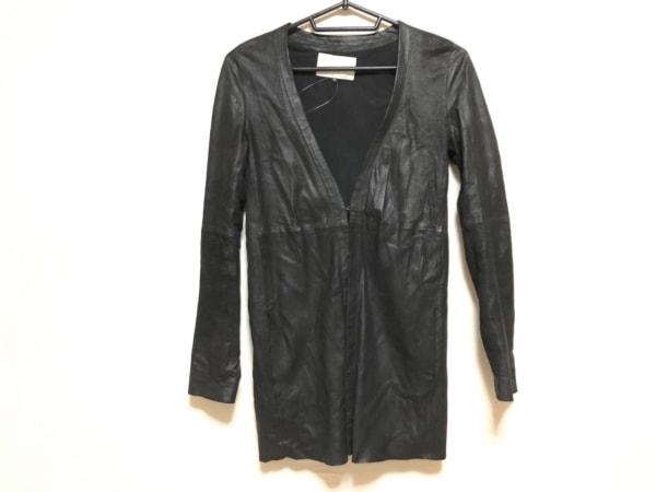 アンシャントマン ジャケット サイズ38 M レディース 黒 レザー/春・秋物
