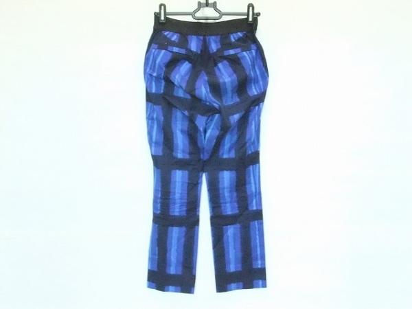 M.Fil(エム.フィル) パンツ サイズ36 S レディース ブルー×黒×ネイビー