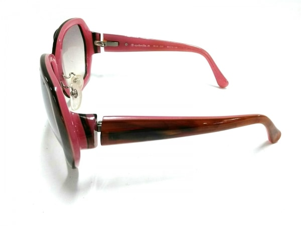 eyebrella(アイブレラ) サングラス EB-03 ライトグレー×ダークブラウン×ピンク NH2