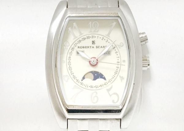 ロベルタ スカルパ 腕時計 - メンズ トリプルカレンダー/ムーンフェイズ アイボリー