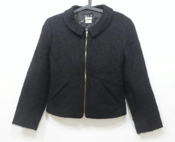 agnes b(アニエスベー) ジャケット サイズ1 S レディース 黒 ジップアップ/冬物