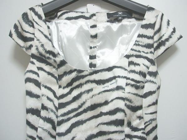 エリザベッタフランキ ワンピース サイズ38 M レディース美品  白×黒×ベージュ