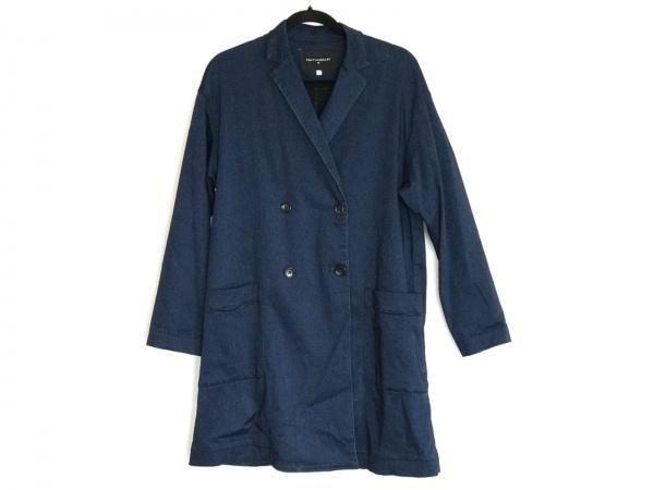 ビーティングハート コート サイズ2 M レディース美品  ネイビー 春・秋物