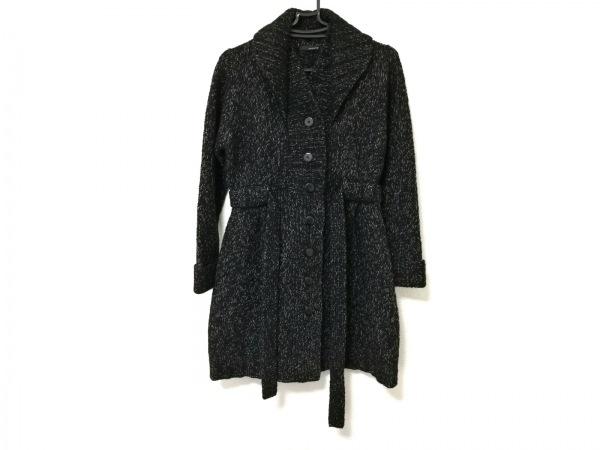 APERITIF(アペリティフ) コート レディース 黒×ライトグレー ニット/春・秋物