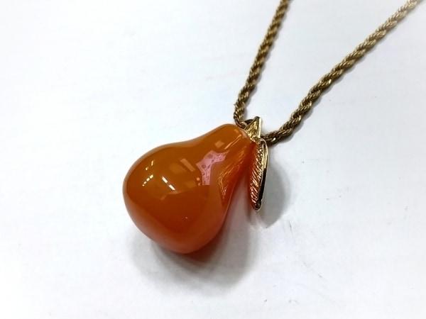 ケネスジェイレーン ネックレス美品  金属素材×カラーストーン ゴールド×オレンジ