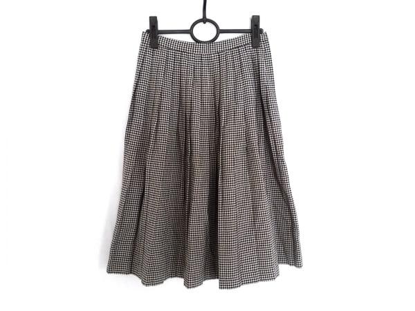 YORKLAND(ヨークランド) スカート レディース 白×黒 チェック柄