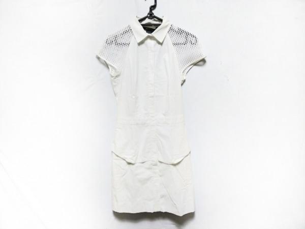 ARMANIEX(アルマーニエクスチェンジ) ワンピース レディース 白 袖シースルー