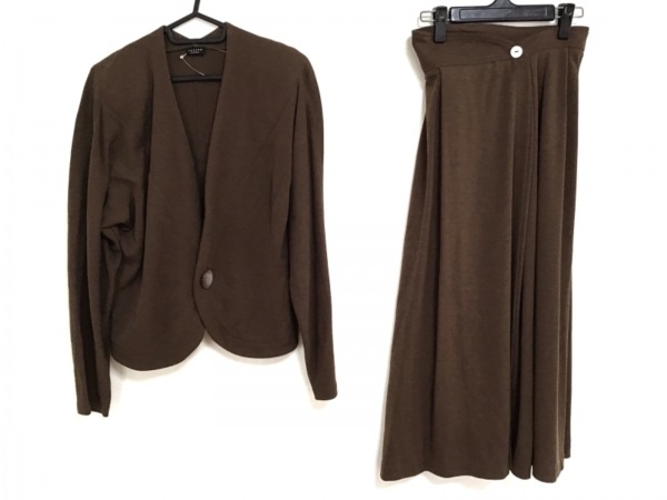 JURGEN LEHL(ヨーガンレール) スカートスーツ サイズM レディース ブラウン