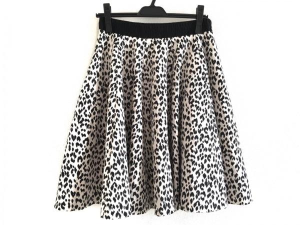 The Virgnia(ザ ヴァージニア) スカート サイズ38 M レディース美品  白×黒 豹柄