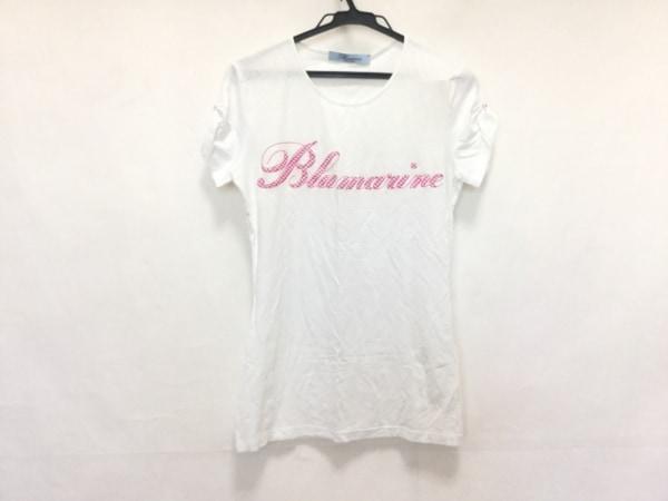 BLUMARINE(ブルマリン) 半袖Tシャツ サイズI 40d 34 レディース美品  白×ピンク