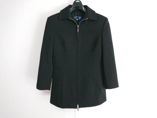 モンタナ コート サイズ42 L レディース美品  黒 ジップアップ/肩パッド/春・秋物