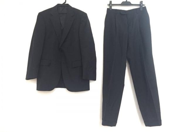 CERRUTI(セルッティ) シングルスーツ メンズ 黒×グレー F.LLI CERRUTI/ストライプ
