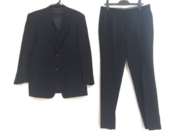 DORMEUIL(ドーメル) シングルスーツ メンズ ダークネイビー 肩パッド/ネーム刺繍