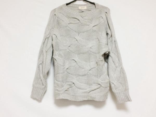 genten(ゲンテン) 長袖セーター サイズ38 M レディース ライトグレー