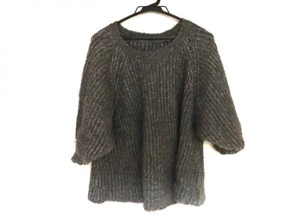 SHIZUKA KOMURO(シズカコムロ) 半袖セーター サイズ40 M レディース美品  グレー