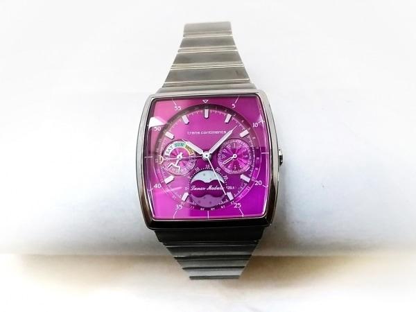 トランスコンチネンス 腕時計 6350-S018111 レディース クロノグラフ/ムーンフェイズ