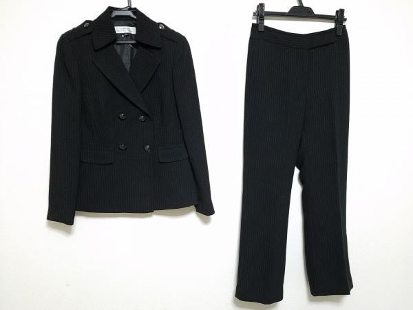 TAHARI(タハリ) レディースパンツスーツ サイズ2 M レディース 黒×白 ストライプ