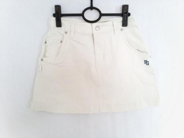 PEARLY GATES(パーリーゲイツ) ミニスカート サイズ0 XS レディース美品  アイボリー