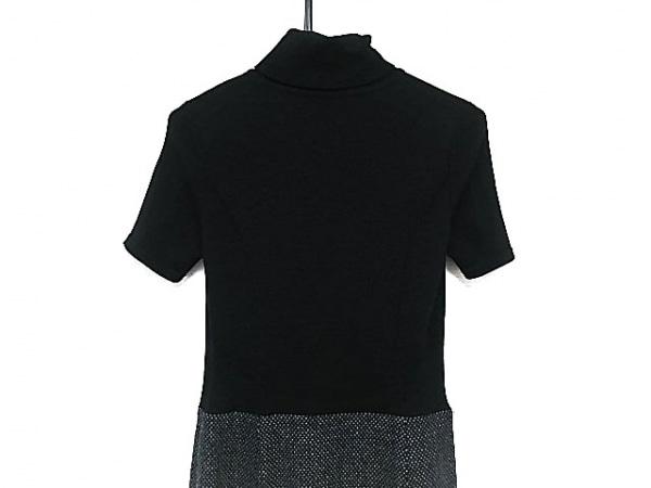 カールラガーフェルド ワンピース レディース美品  黒×グレー タートルネック