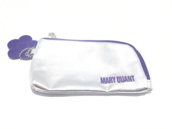 MARY QUANT(マリークワント) ポーチ美品  シルバー×パープル 合皮
