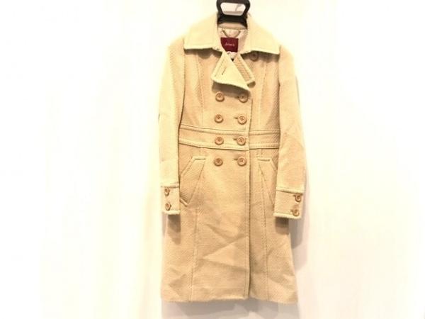 Jines(ジネス) コート サイズ38 M レディース ベージュ 冬物/ラメ