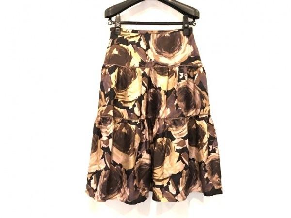 Scapa(スキャパ) スカート サイズ38 L レディース美品  ブラウン×ピンク×マルチ