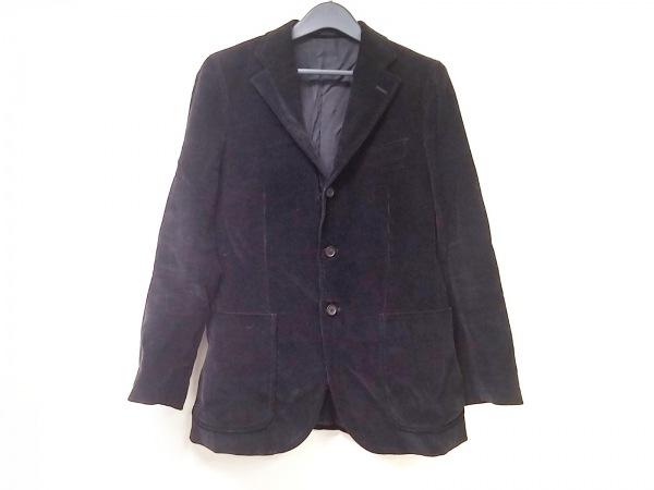 TOMORROWLAND(トゥモローランド) ジャケット サイズ46 XL メンズ 黒 ベロア