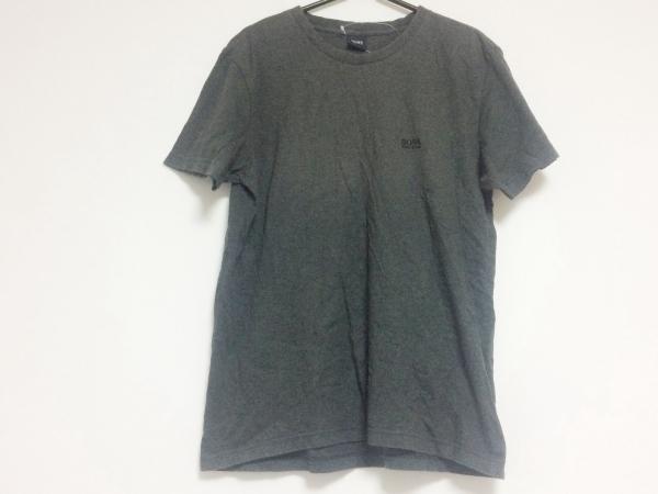 HUGOBOSS(ヒューゴボス) 半袖Tシャツ サイズS メンズ ダークグレー 刺繍