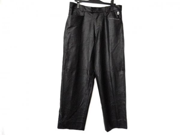 CastelbajacSport(カステルバジャックスポーツ) パンツ サイズ86 メンズ美品  黒 合皮