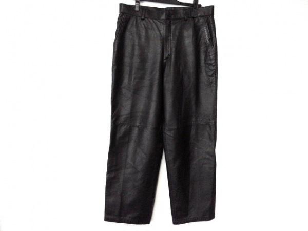 カステルバジャックスポーツ パンツ サイズ86 メンズ美品  黒 レザー