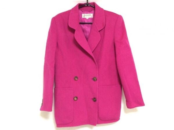 KAMANTA(カマンタ) コート サイズ42 L レディース ピンク 肩パッド/冬物