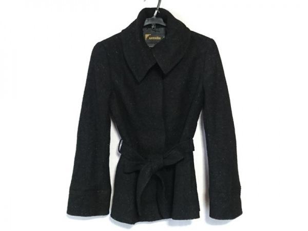 KRYDDERI(クリュドリィ) コート サイズM レディース 黒 ラメ/冬物