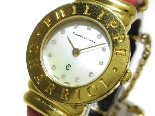 フィリップシャリオール 腕時計 サントロペ 7007901 レディース アイボリー