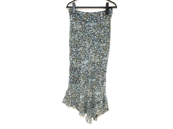 Scapa(スキャパ) ロングスカート サイズ38 L レディース美品  グリーン×マルチ