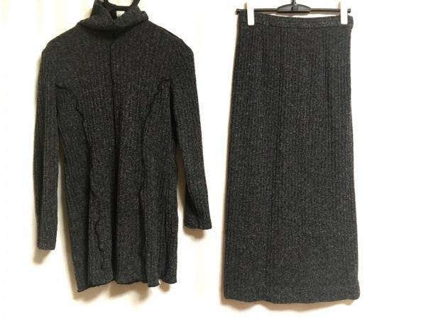ARAMIS(アラミス) スカートセットアップ サイズ42 L レディース 黒×白 ニット