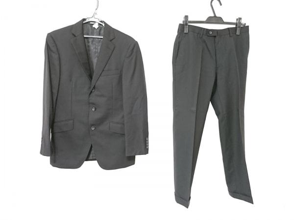 PERSON'S(パーソンズ) シングルスーツ メンズ 黒 FOR MEN/ストライプ/肩パッド