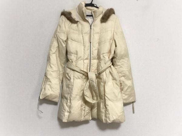 EL MIDAS(エルミダ) ダウンコート サイズ9 M レディース美品  アイボリー 冬物