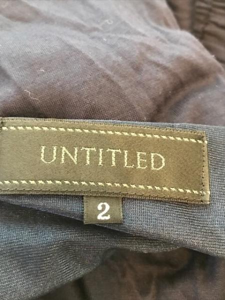 UNTITLED(アンタイトル) ワンピース サイズ2 M レディース美品  ダークネイビー