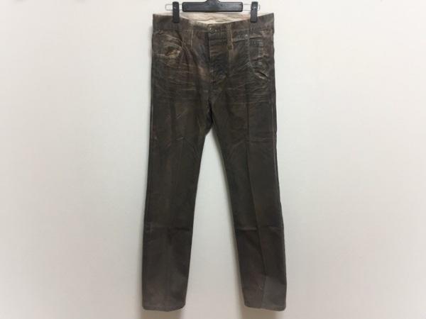 ニールバレット パンツ サイズ31 レディース ダークブラウン ダメージ加工