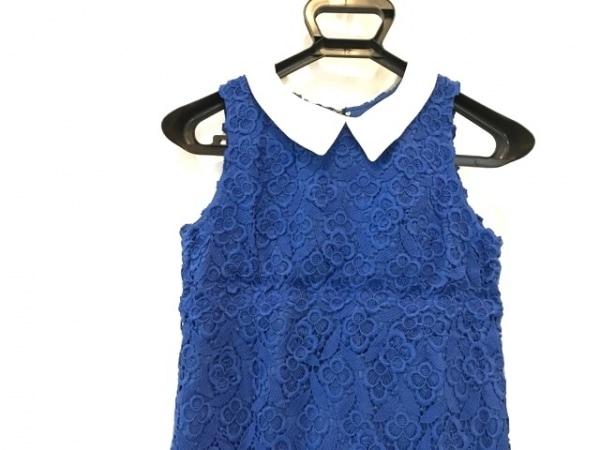 MUVEIL(ミュベール) ワンピース サイズ36 S レディース美品  ブルー×白