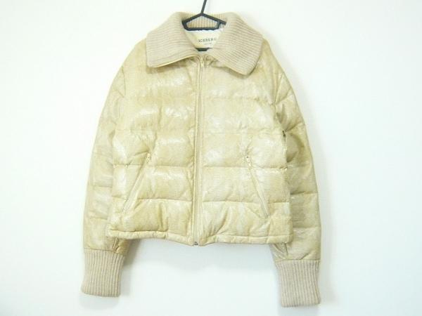 アイスバーグ ダウンジャケット サイズ42 M レディース ベージュ レザー/冬物