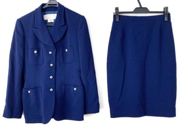 NINARICCI(ニナリッチ) スカートスーツ サイズ40 M レディース美品  ネイビー
