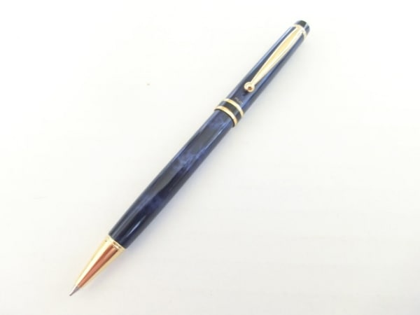 パイロット ボールペン美品  ダークネイビー×ライトブルー×ゴールド インクあり(黒)