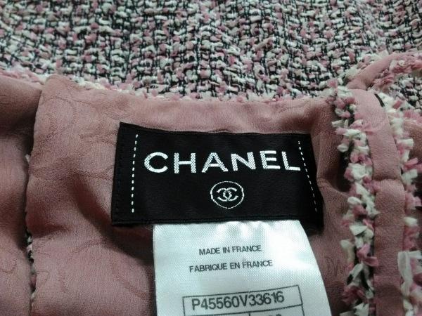 CHANEL(シャネル) ワンピース サイズ36 S レディース美品  ピンク×黒×白 ツイード
