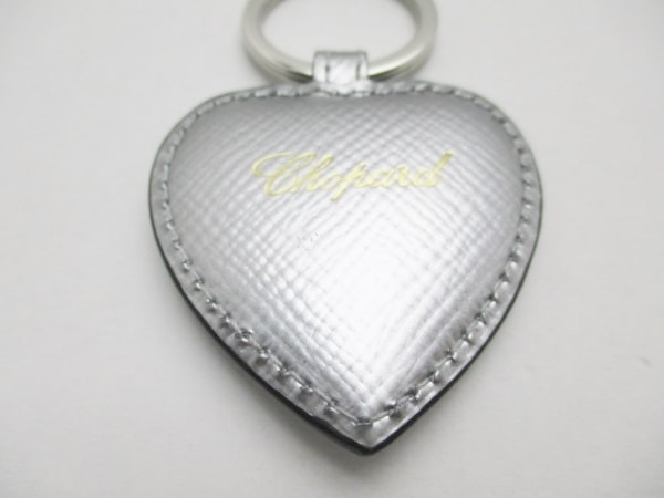 スマイソン キーホルダー(チャーム)美品  シルバー ハート レザー×金属素材