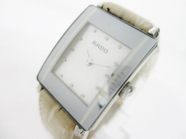 RADO(ラドー) 腕時計美品  ダイアスター 153.0488.3 レディース ホワイトシェル